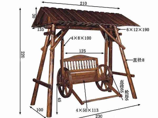 一般2米 2米防腐木凉亭价格